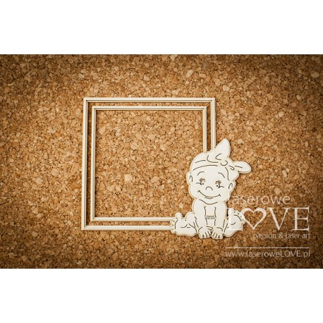 Chipboard -  Baby Girl Frame