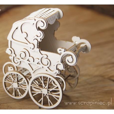Chipboard 3D -  Baby stroller/Pram